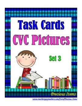 CVC Pictures Set 3 - Task Cards
