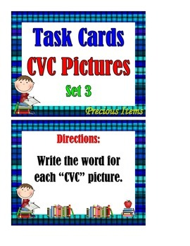 CVC Pictures Set 3 - Task Cards