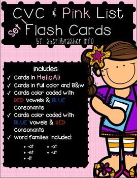 CVC & Pink Series Flash Cards - ALI