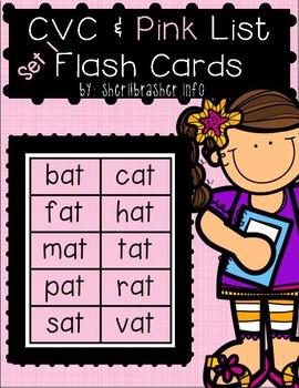 CVC & Pink Series Flash Cards - BASIC