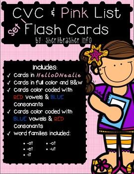 CVC & Pink Series Flash Cards - DNEALIE