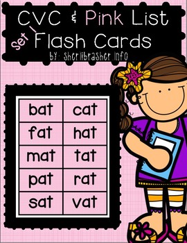 CVC & Pink Series Flash Cards - POPPIN