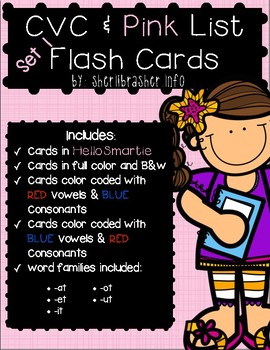 CVC & Pink Series Flash Cards - SMARTIE