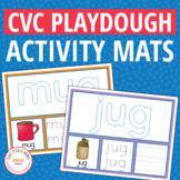 CVC Word Family Play Dough Activity Mats