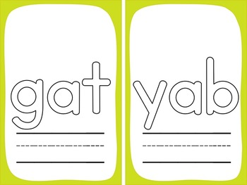 CVC Play Dough Mats: 105 CVC Words and 11 Nonsense Words to Make and Write