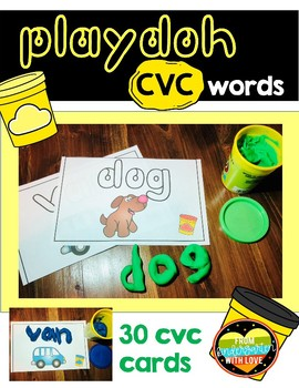 CVC Playdoh Literacy Center