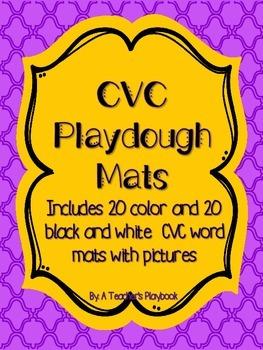 CVC Playdough Mats