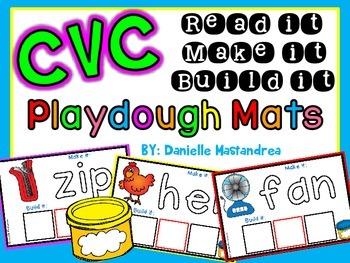 CVC Playdough Mats {Read it, Make it, Build it}