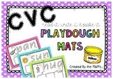 CVC Playdough Mats (Read it, Write it, Make it)