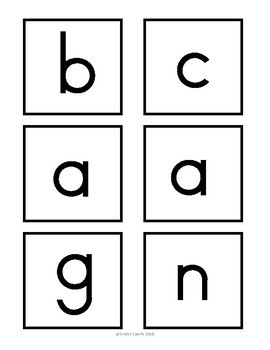 CVC Pocket Chart Activity- Building CVC Words