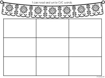 CVC Pocket Chart Center - Papel Picado