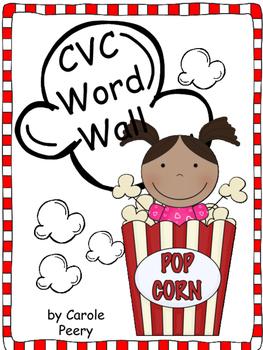 Popcorn CVC Word Wall