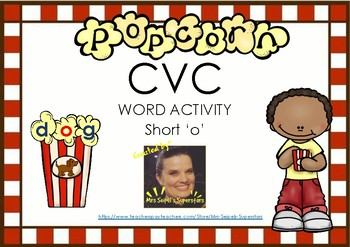 CVC Popcorn Words - Short o