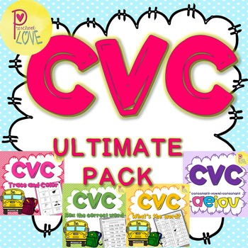 CVC Powerpoint and Worksheets for Kindergarten