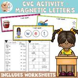CVC Practice Cards - Magnetic Letters