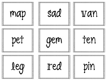 Short Vowel CVC Practice Game