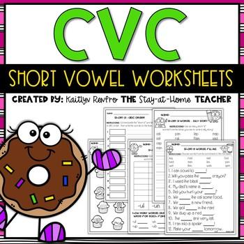 *ON SALE* CVC Short Vowels Practice Pages