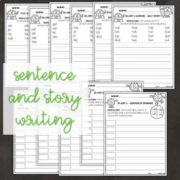 CVC Short Vowels Worksheets