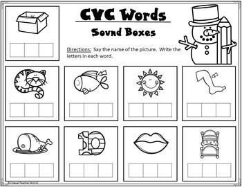 CVC Practice Pages:  Winter theme