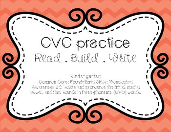 CVC Practice - Read, Build, Write