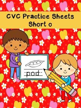 CVC Practice Sheets Short O Words No Prep Printables