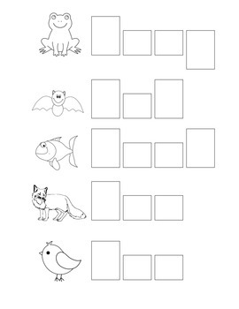 CVC Practice Using Letter Boxes