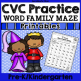 CVC Practice: Word Family Maze