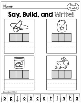 CVC Practice for Kindergarten