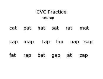 CVC Practice, short a