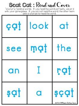 CVC & Pre-Primer Sight Words - Read & Cover Challenge (RTA inspired)
