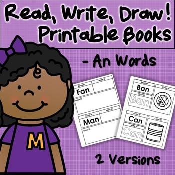 CVC Printable Book -An Word Family