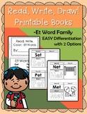 CVC Printable Book -Et Word Family