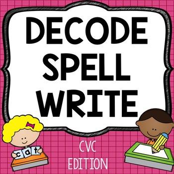 Mixed Vowels CVC Printables