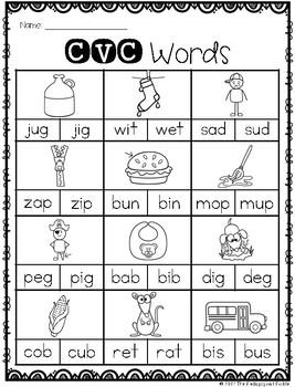 CVC Printables