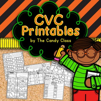 CVC Worksheets that are Hands-On and No Prep for Short Vowels