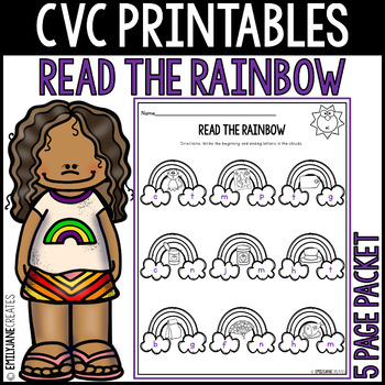 CVC Word Family Printables-READ THE RAINBOW