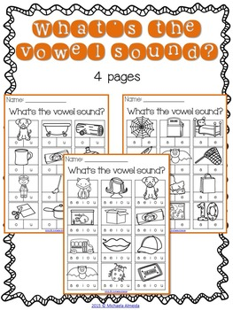CVC Printables: Vowel Sounds