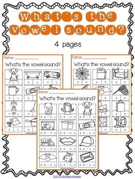 CVC Printables: Vowel Sounds
