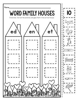 "CVC Printables-WORD FAMILY HOUSES-(Part of ""CVC Printables Mega Bundle"")"