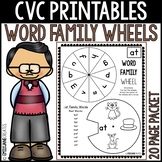 CVC Word Family Printables-WORD FAMILY WHEELS