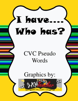 CVC Pseudo Words FREE