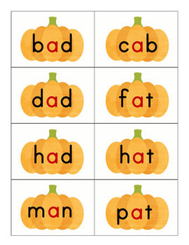 CVC Pumpkin Sorting Cards