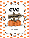 CVC Pumpkin Sorting Cards