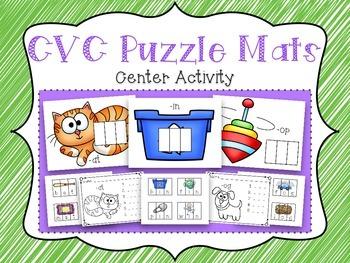 CVC Puzzle Mats Center Activity