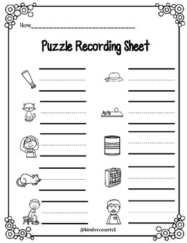 CVC Puzzle- short a