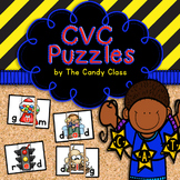CVC Word Puzzles {Short Vowels a e i o u for Literacy Centers}