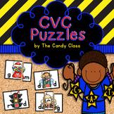 CVC Word Puzzles: Short Vowel Games for Word Work Centers in Kindergarten