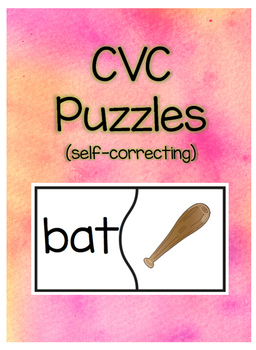 CVC Puzzles (Self-correcting in color and B&W)
