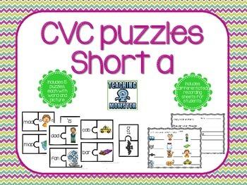 CVC Puzzles--Short a edition