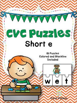 CVC Puzzles Short e